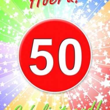 50 jaar thema deurposter