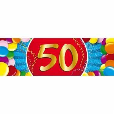 50 jaar versiering sticker