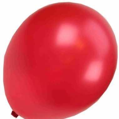 50 metallic feest ballonnen rood