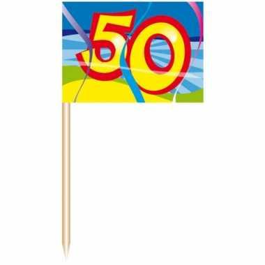 50 stuks feest prikkertjes 50 jaar