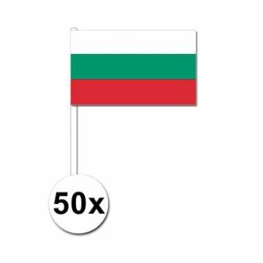 50 zwaaivlaggetjes bulgaarse vlag