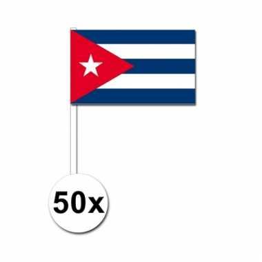 50 zwaaivlaggetjes cubaanse vlag