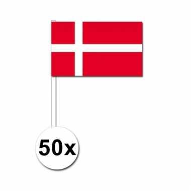 50 zwaaivlaggetjes deense vlag