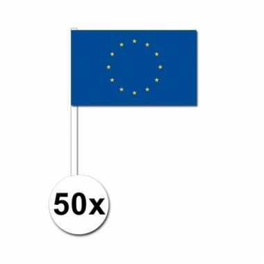 50 zwaaivlaggetjes europese vlag