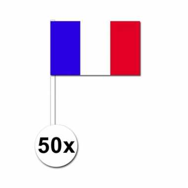 50 zwaaivlaggetjes franse vlag