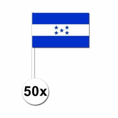 50 zwaaivlaggetjes hondurase vlag