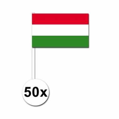 50 zwaaivlaggetjes hongaarse vlag