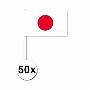 50 zwaaivlaggetjes japanse vlag