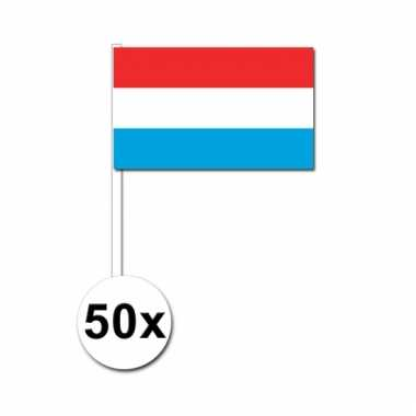 50 zwaaivlaggetjes luxemburgse vlag