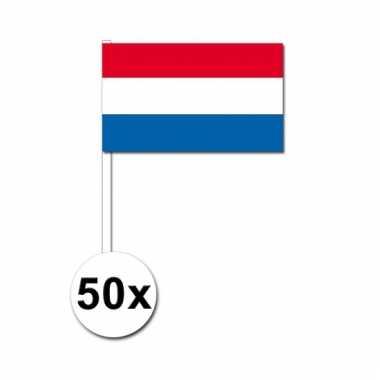 50 zwaaivlaggetjes nederlandse vlag