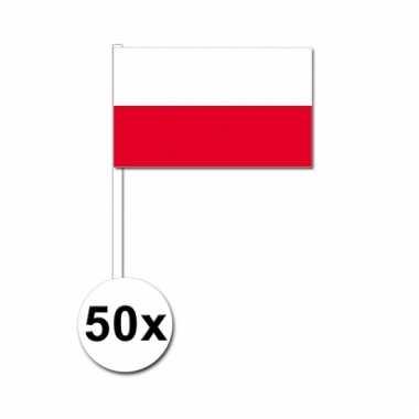 50 zwaaivlaggetjes poolse vlag