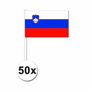 50 zwaaivlaggetjes sloveneense vlag