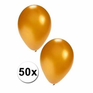 50x gouden feest ballonnen