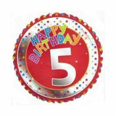 5e verjaardag helium ballon