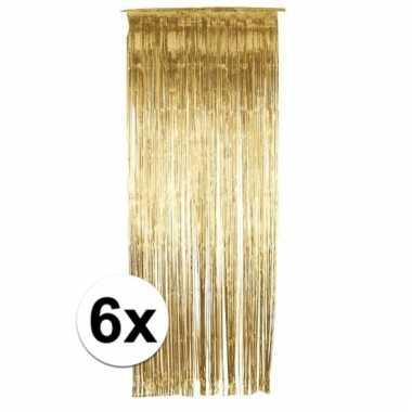 6 gouden folie gordijnen