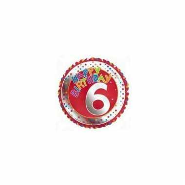 6e verjaardag helium ballon