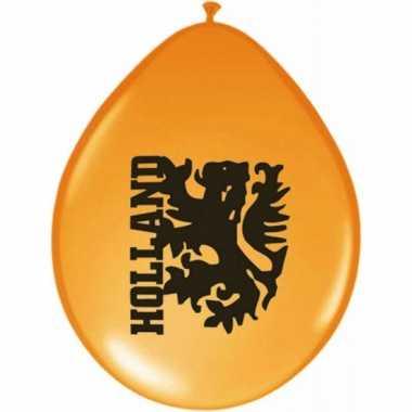 8 stuks holland ballonnen met leeuw