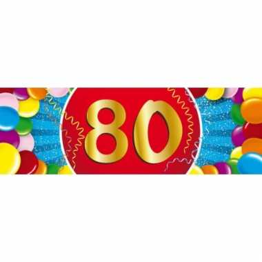 80 jaar versiering sticker