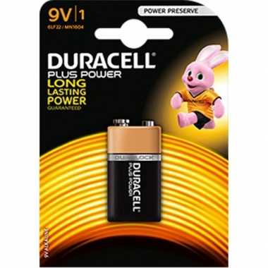 9 volt batterijen duracell