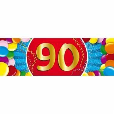 90 jaar versiering sticker