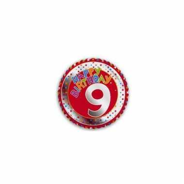 9e verjaardag helium ballon