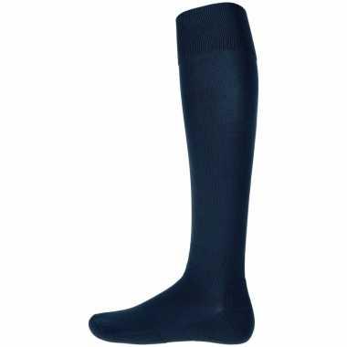 Afgeprijsde 1 paar hoge sport sokken donkerblauw