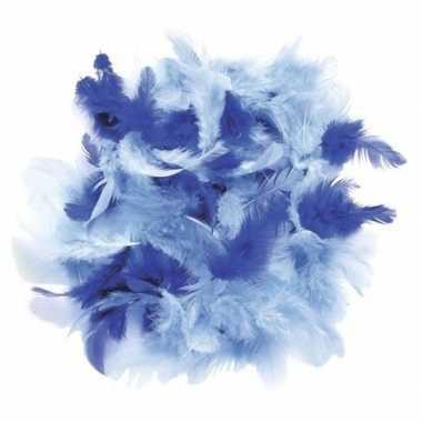 Afgeprijsde 10 gram decoratie sierveren blauw tinten