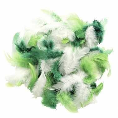Afgeprijsde 10 gram decoratie sierveren groen tinten