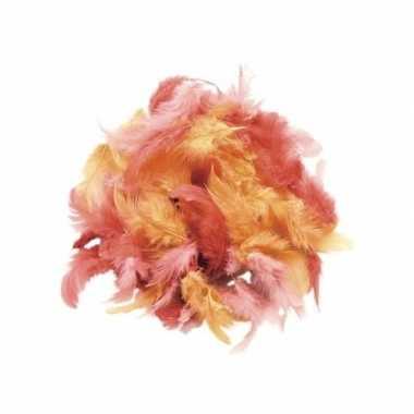 Afgeprijsde 10 gram decoratie sierveren rood tinten