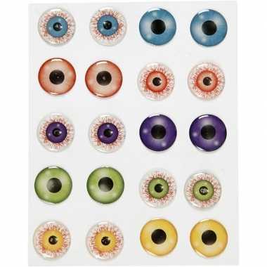 Afgeprijsde 10 stuks gekleurde 3d ogen stickers