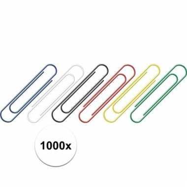 Afgeprijsde 1000 stuks handige gekleurde paperclips 1000