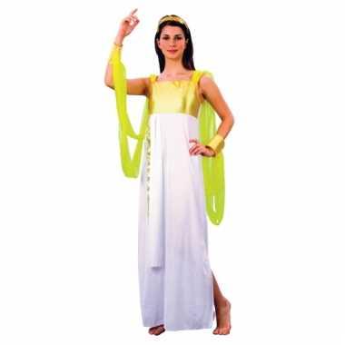 Afgeprijsde 1001 nacht jurk wit met goud