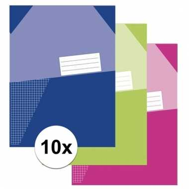 Afgeprijsde 10x a4 schriften met ruitjes 5 mm