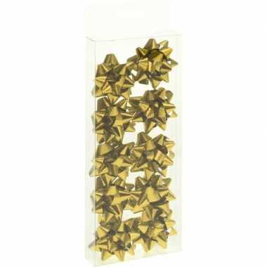 Afgeprijsde 10x cadeau strikje goud 5 cm