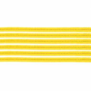 Afgeprijsde 10x chenilledraad geel 50 cm