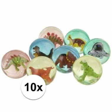 Afgeprijsde 10x dinosaurus stuiterballen
