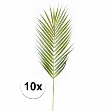Afgeprijsde 10x kunst chamaedorea bladeren 75 cm