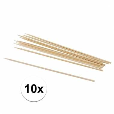 Afgeprijsde 10x naturel houten knutsel stokjes 10 cm