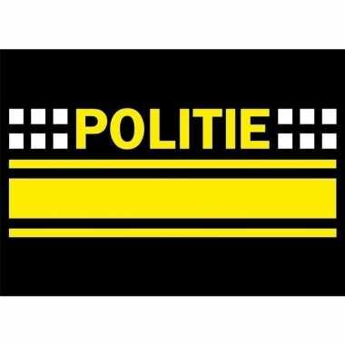 Afgeprijsde 10x politie logo sticker 7.5 x 10 cm