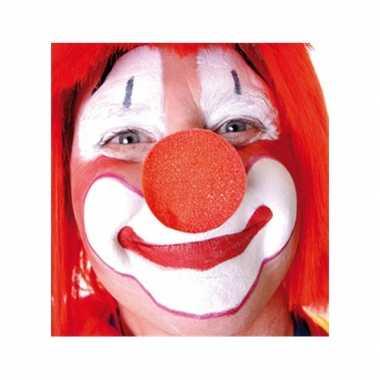 Afgeprijsde 10x rode opzet clownsneus foam