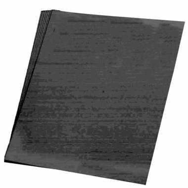 Afgeprijsde 10x stuks vellen karton zwart 48x68 cm