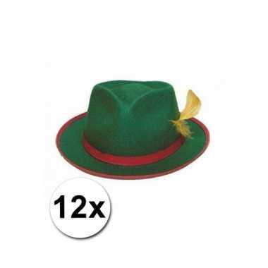 Afgeprijsde 12 tiroler hoeden groen