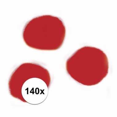 Afgeprijsde 140x hobby balletjes rood 7 mm