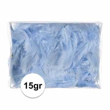 Afgeprijsde 15 gram deco donsveren blauw
