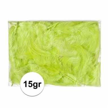 Afgeprijsde 15 gram deco donsveren groen