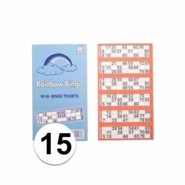 Afgeprijsde 1500x bingokaarten set
