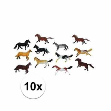 Afgeprijsde 15x speel paardjes gemaakt van plastic 6 cm