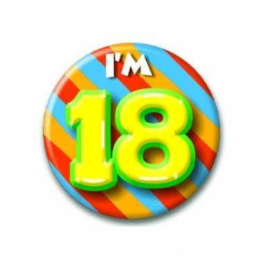 Afgeprijsde 18 jaar button