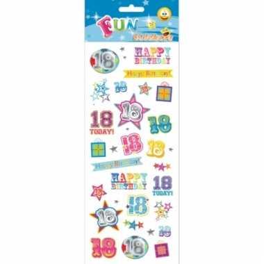 Afgeprijsde 18 jaar geworden stickers