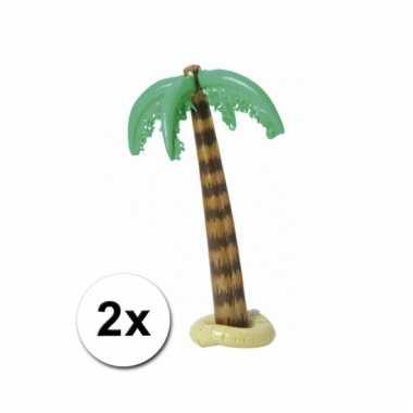 Afgeprijsde 2 palmbomen opblaasbaar 90 cm